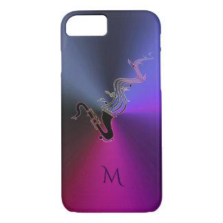 Monogram Metallic Purple Saxophone iPhone 7 Case