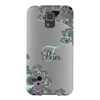 Monogram Metallic Silver Fractal Galaxy S5 Case