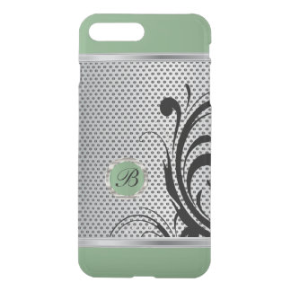 Monogram Mint Green and Silver Mesh iPhone 8 Plus/7 Plus Case