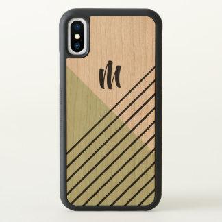 Monogram Mint Green Geometric Pattern iPhone X Case