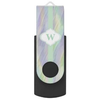 Monogram Mint Yellow Lilac USB Flash Drive