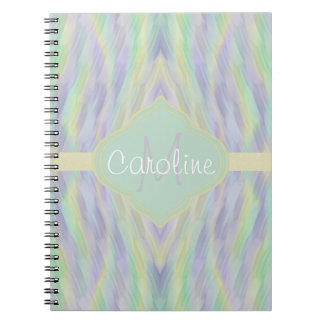 Monogram Minty Yellow Lilac Notebooks