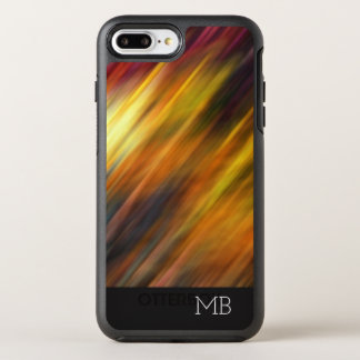 Monogram Modern Abstract Name Initials OtterBox Symmetry iPhone 8 Plus/7 Plus Case