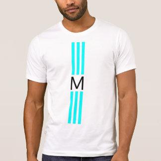 Monogram Modern Aqua Stripes T-Shirt