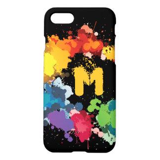 Monogram. Modern Art Abstract Paint. iPhone 8/7 Case