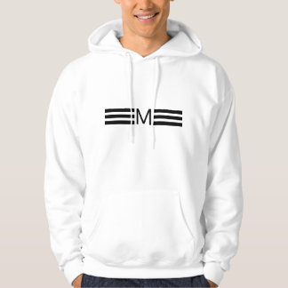 Monogram Modern Black Stripes Hoodie