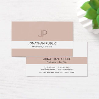 Monogram Modern Elegant Chic Color Harmony Luxury Business Card