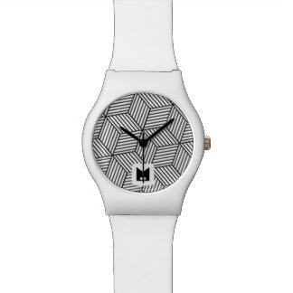Monogram. Modern Geometric Pattern. Wristwatches