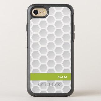 Monogram. Modern Golf Ball Texture. OtterBox Symmetry iPhone 8/7 Case