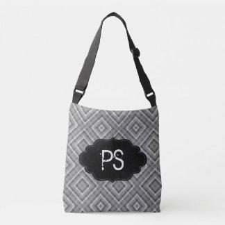 Monogram Modern Gray Texture Crossbody Bag