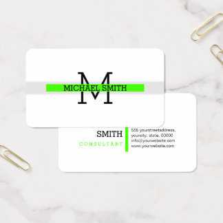 Monogram Modern Harlequin Horizontal Line Business Card