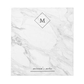 Monogram modern marble notepads
