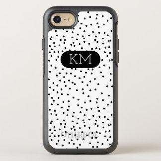 Monogram Modern Polka Dot OtterBox Symmetry iPhone 8/7 Case