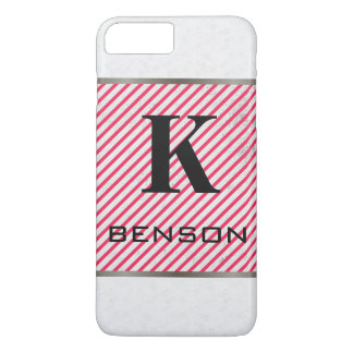 Monogram Modern Textures Red Stripes Case-Mate iPhone Case
