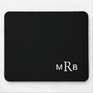 Monogram mouse pad with your initials