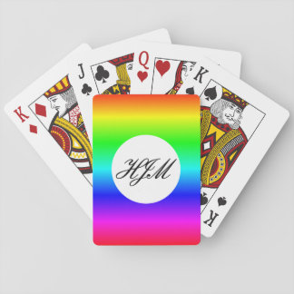 Monogram multi-color playing cards