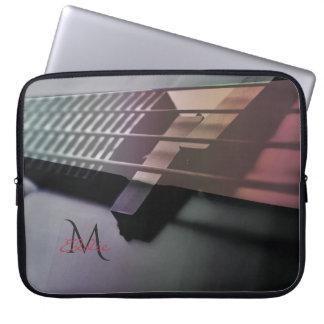 Monogram Music Bass Guitar Laptop Sleeve