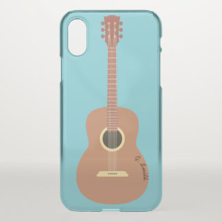 Monogram. Musical Instrument. Funny Guitar. iPhone X Case