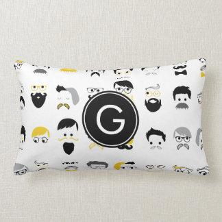 Monogram Mustache Lumbar Pillow