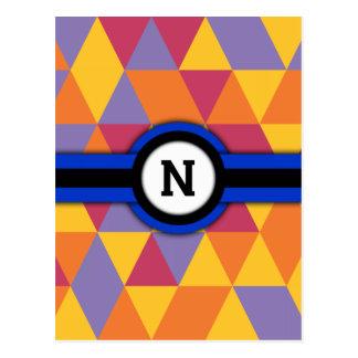 Monogram N Postcard