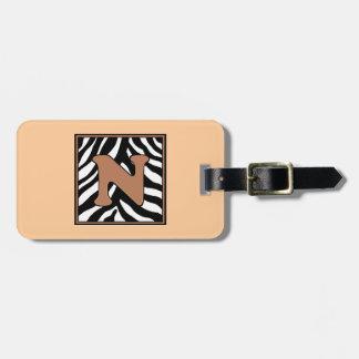 Monogram N-Zebra Skin Luggage Tag