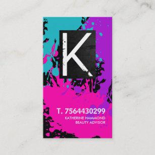 Monogram Nail Technician Business Card