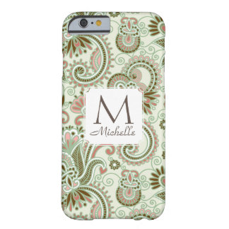 Monogram & Name East Indian Floral Green Case