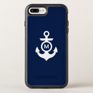 Monogram | Nautical Anchor OtterBox Symmetry iPhone 7 Plus Case