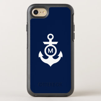 Monogram | Nautical Anchor OtterBox Symmetry iPhone 8/7 Case
