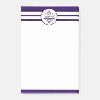 Monogram Nautical Elegant Navy Post-it® Notes