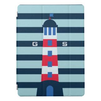 Monogram. Nautical. Light House. iPad Pro Cover