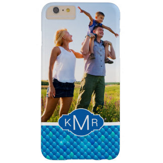 Monogram | Neon Blue Fish Scales Barely There iPhone 6 Plus Case
