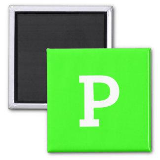 Monogram Neon Green Best Color Coordinating Magnet