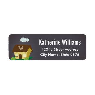 Monogram New Home Return Address Label