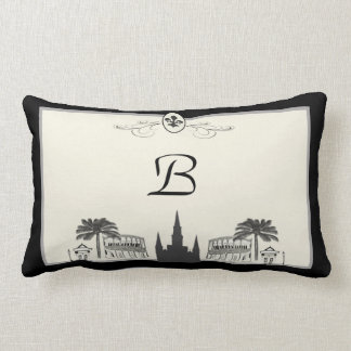 Monogram New Orleans Scene Lumbar Pillow