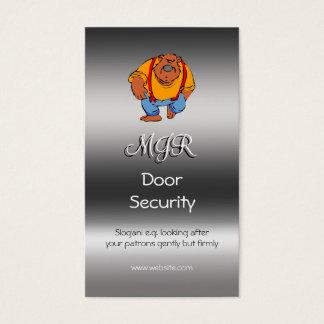 Monogram, Nightclub Door Security, metallic-effect Business Card