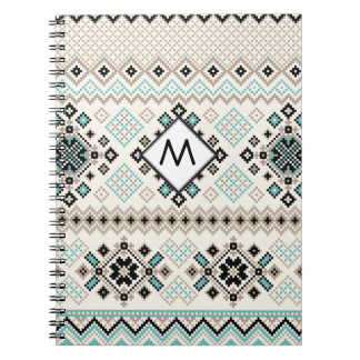 Monogram Nordic Cross Stitch Pattern Notebooks