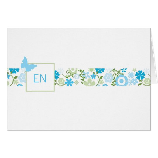 Monogram Note or Thank You Card