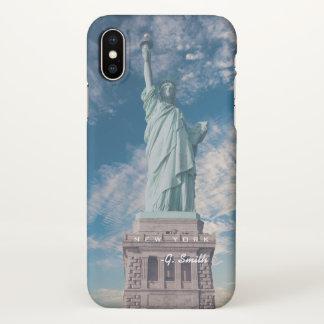 Monogram. NYC Liberty Statue. USA. iPhone X Case