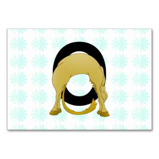 Monogram O Flexible Pony Personalised Table Card