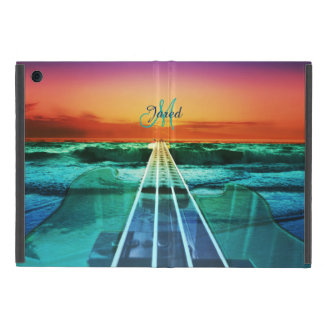 Monogram Ocean Sunset Bass Music iPad Mini Case