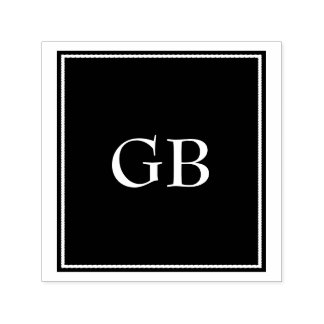 Monogram On Black Background Self-inking Stamp