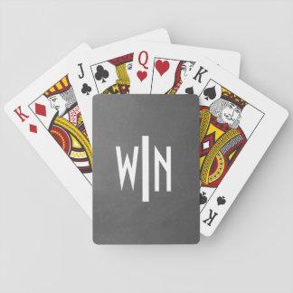 Monogram on Black Basic Playing Cards
