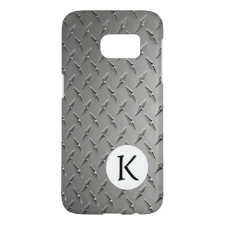 Monogram on Diamond Metal Background Samsung Galaxy S7 Case