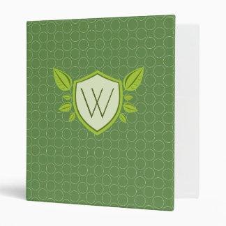 Monogram on Leaf Shield | Binder