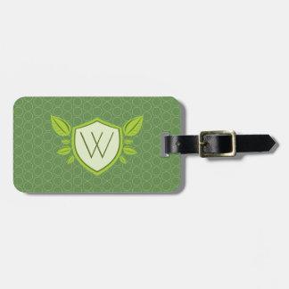 Monogram on Leaf Shield | Luggage Tag