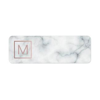monogram on marble