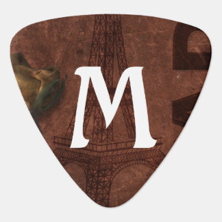 Monogram on Paris Grunge Guitar Pick