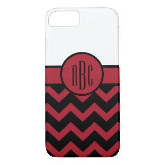 Monogram on Red and Black iPhone 8/7 Case