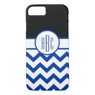 Monogram on White and Blue iPhone 7 Case